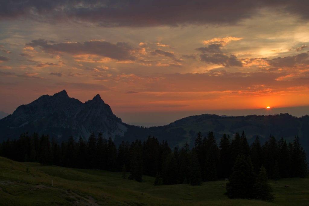 Furggelenstock, Schweiz, Schwyz, Sonnenuntergang, Wandern