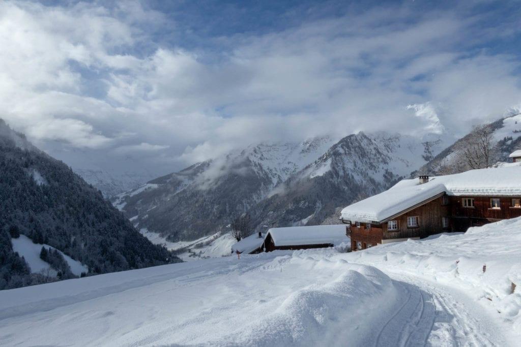 Glarus, Schweiz, Skitour