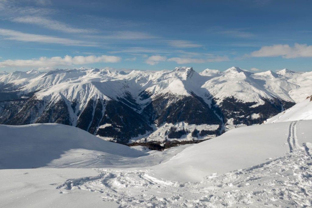 Freeride, Graubünden, Klosters, Schweiz
