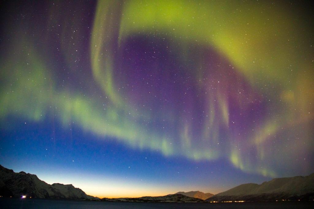 Aurora Borealis, Lyngen, Lyngseidet, Norway, nightshoot